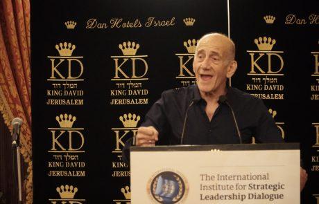 """אולמרט: """"אם מישהו חושב שהדחייה בתהליך השלום משרתת את האינטרס הישראלי – טועה"""""""