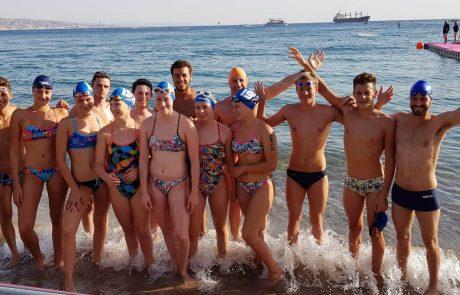 נבחרת הנוער הישראלית זכתה במקום ה10באליפות העולם לנוער במים פתוחים באילת