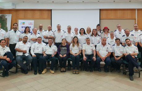 """28 חובשים ונהגי אמבולנס חדשים של מד""""א ברמת הגולן"""