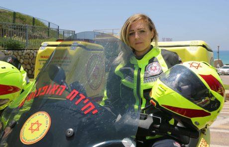 """האופנועניות של מד""""א שמצילות חיים"""