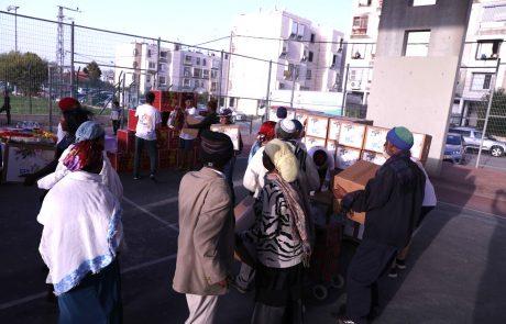 בני חורין: מבצע חלוקת מזון לבני העדה האתיופית בקרית מלאכי