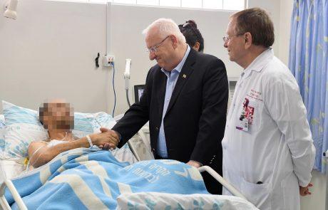נשיא המדינה ביקר את הטייס והנווט הפצועים